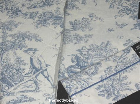 toile de jouy curtains blue toile de jouy curtains at www perfectlyboxed com