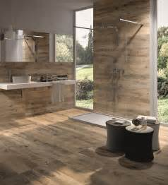 Modern Bathroom With Wood Tile Wood Look Tile 17 Distressed Rustic Modern Ideas
