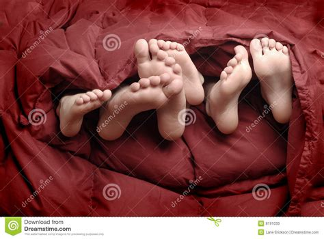 feet in bed feet in bed stock photos image 8191033