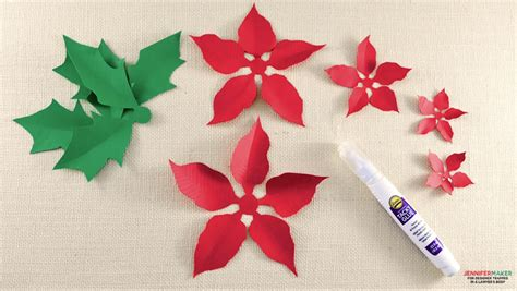 paper poinsettia flowers pattern diy paper poinsettia the perfect gift embellishment