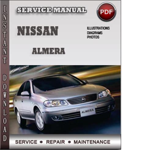 Nissan Almera Service Repair Manual Download Info