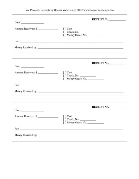 Receipt For Services Template Free by Printable Receipt For Services Printable Receipt