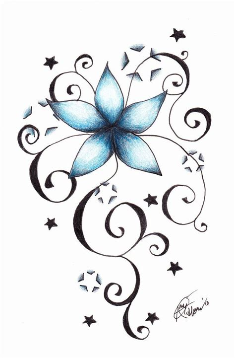 flower star tattoos and flowers tattoos vines code for