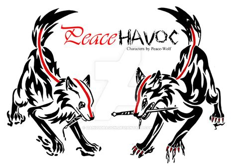 peace tribal tattoos havoc and peace tribal by dansudragon on deviantart