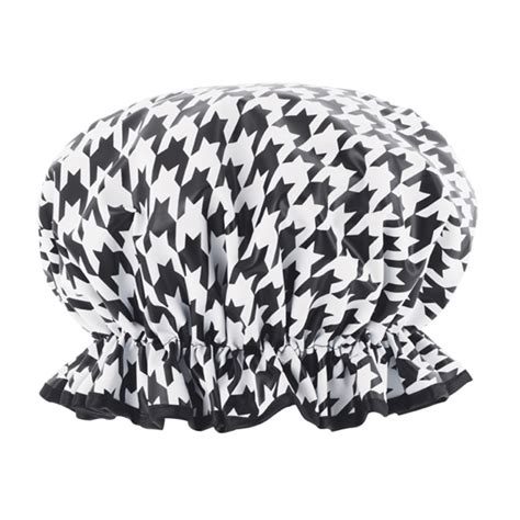 Purple Houndstooth Cape by Designer Shower Caps