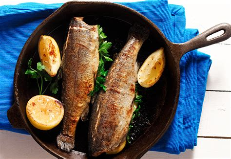 Mercolade Rainbow Lemon Fresh 1kg traditional pan fried trout eat well