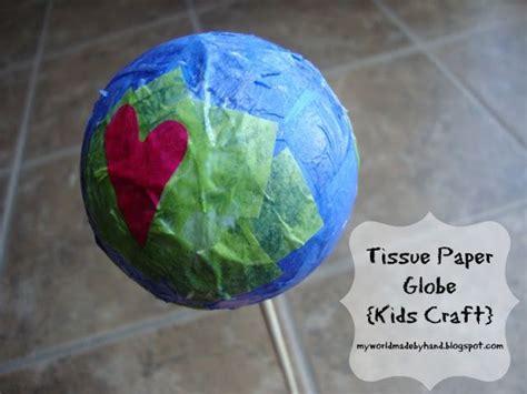 globe craft tissue paper globe craft crafts and