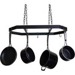 Pot Pan Rack Hanging J J Wire Hanging Pot And Pan Rack Reviews Wayfair Ca
