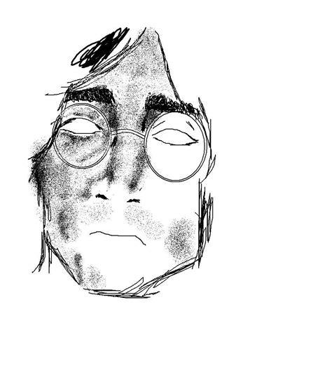 imagenes de john lennon en dibujo john lennon dibujado en paint arte taringa