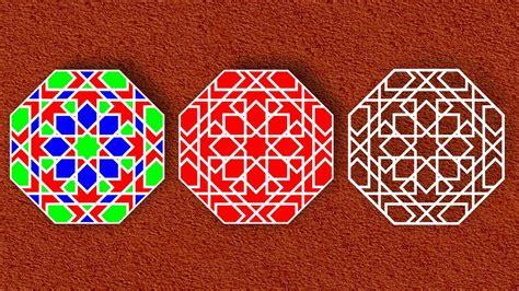 geometric pattern in corel draw islamic shapes and islamic geometric patterns design