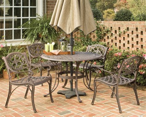 home styles biscayne bronze 5pc dining set with arm chairs