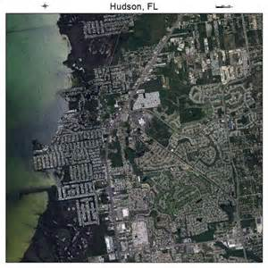 aerial photography map of hudson fl florida