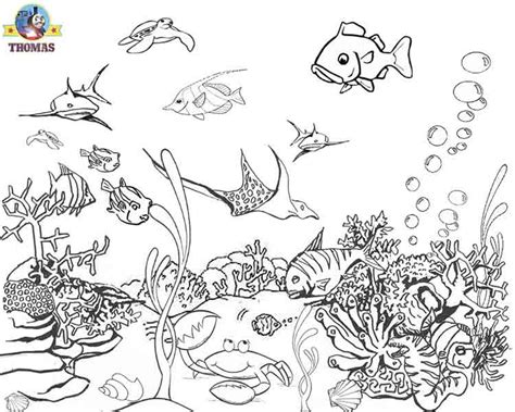 Underwater Sea Creatures Coloring Pages free coloring pages of sea creatures water