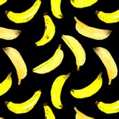black bananas wallpaper banana fabric wallpaper gift wrap spoonflower