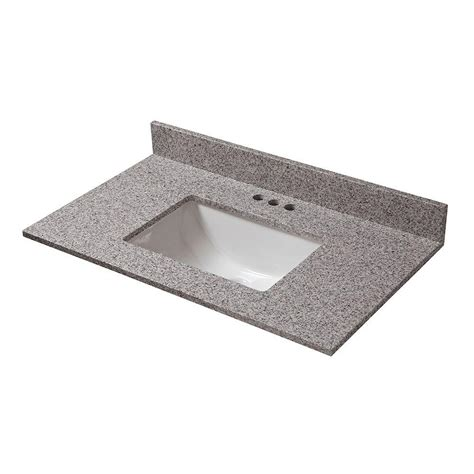 Kitchen Sink Model Home Decorators Collection 25 In W X 19 In D Granite