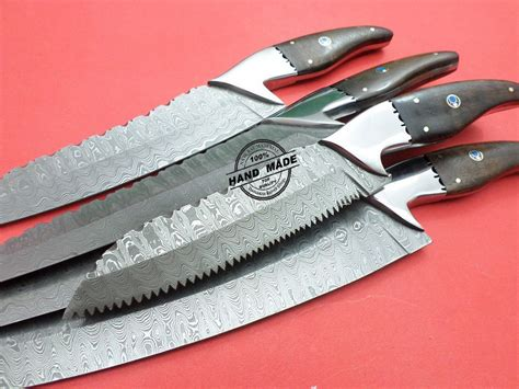 rate kitchen knives damascus kitchen knives 5 pcs set custom handmade damascus