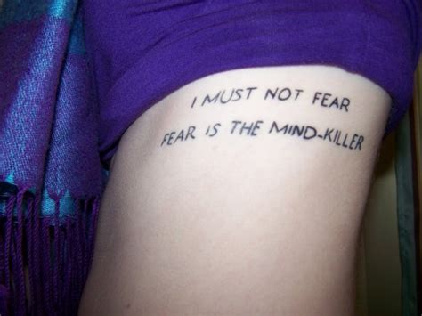 dune tattoo fear is the mind killer contrariwise literary tattoos