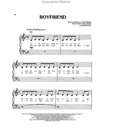 justin bieber music names best of justin bieber for big note piano sheet music by