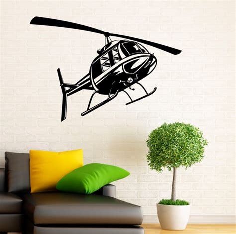 helicopter wall stickers helicopter airforce wall decal vinyl stickers home