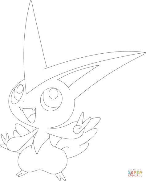 pokemon coloring pages victini victini coloring page free printable coloring pages