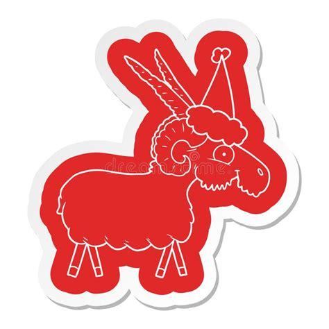santa  goat stock vector illustration  element