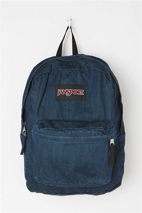 Denim Backpack jansport denim bookbag style carry on