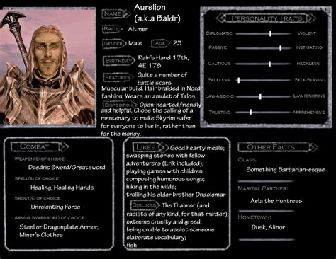 Skyrim Character Templates skyrim character template baldr by norroendyrd on deviantart