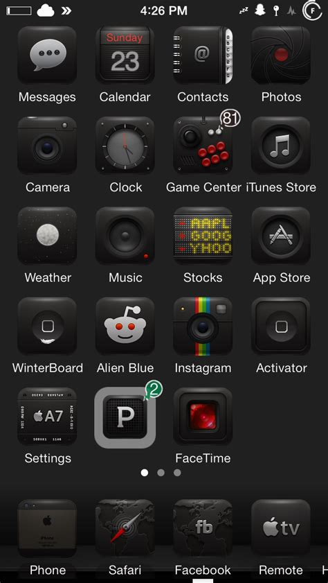 black jailbreak themes theme sunday elite 7 fuel 0xygen infinite7 vectros