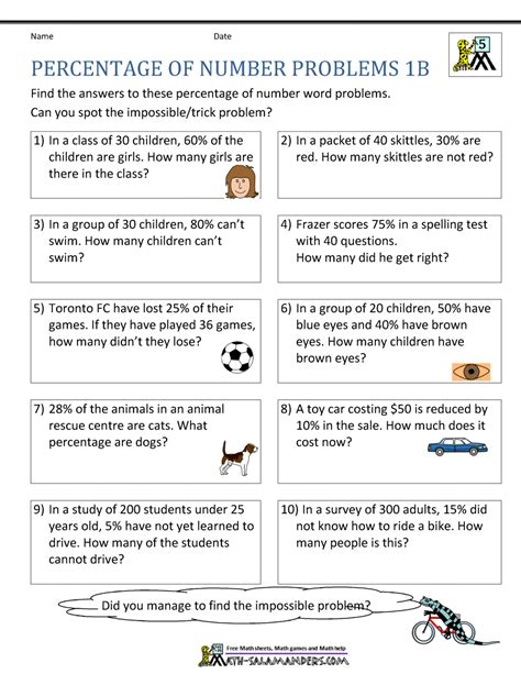 Word Problems Mba by Percent Change Word Problems Worksheet With Answers