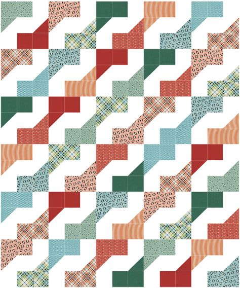 Easy Zig Zag Quilt Pattern by Simple Quilt Patterns 7 Designs For Stress Free