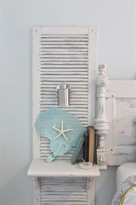 headboard made from shutters beachy nightstands custom made shutter nightstands
