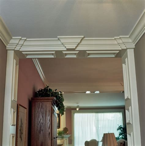 Custom Crown Molding Handmade Foyer Recessed Panel Columns With Ogee Crown