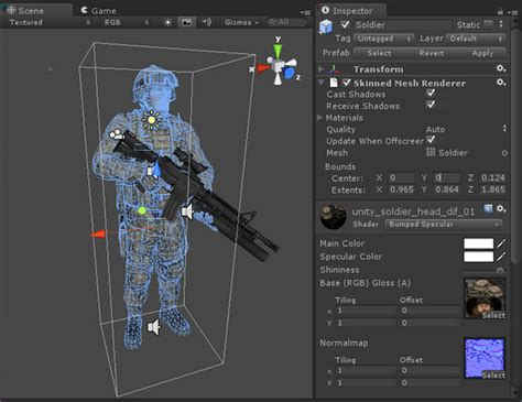 unity tutorial animation character unity skinned mesh renderer