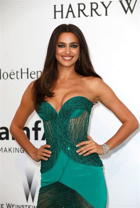 Hotel Du Cap Eden Roc by Irina Shayk Wears Emerald Green Gown As She Attends Cannes