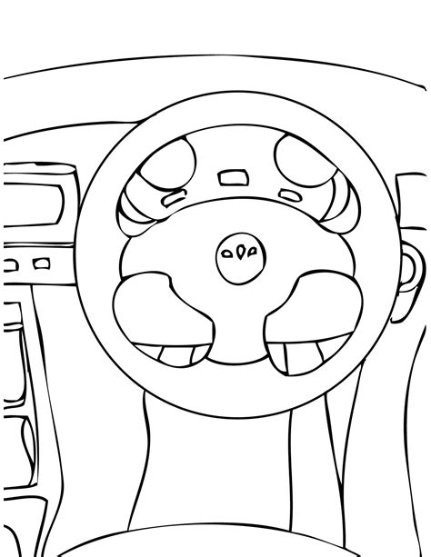 smart car coloring page car parts colouring pages