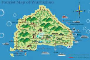 wuzhizhou tourist map hotels transports photos