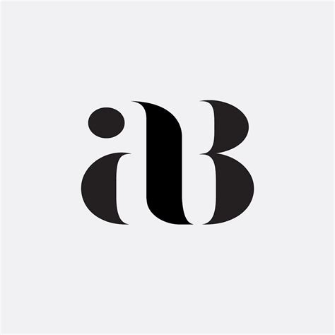 pattern logos design ab monogram project by hope meng on inspirationde