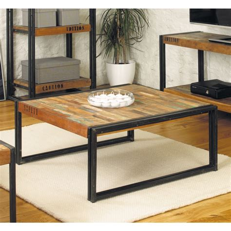 Solid Wood Living Room Tables by Chic Square Living Room Coffee Table Solid Reclaimed