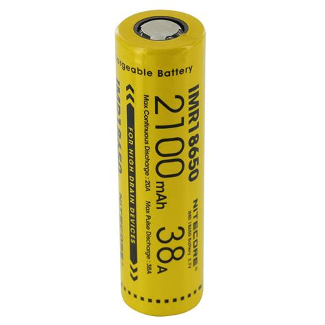 Baterai Vape nitecore imr18650 baterai vape 2100mah 38a 3 7v yellow