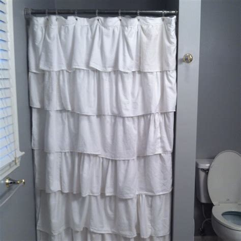small shower stall curtains ruffled stall shower curtain bathroom pinterest