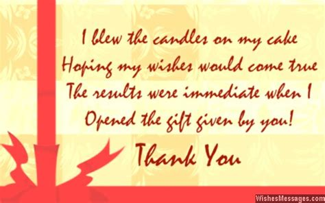 thank you letter birthday gift thank you notes for birthday gifts messages for birthday