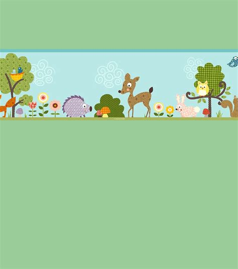 Animal Wall Murals woodland animal themed bedroom border from children s rooms