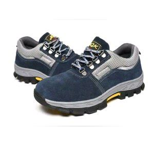 jual sepatu safety model sport import warna biru abu list