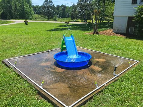 backyard splash pad diy little white house blog our diy splash pad