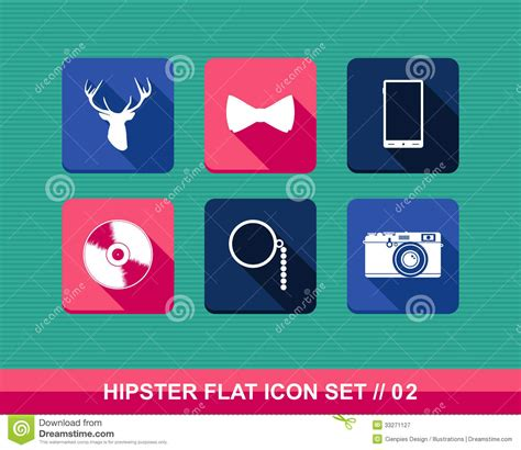 retro icons 20 free sets for vintage themed designs retro hipsters style flat icons set stock vector image