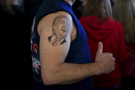 tattoo of us donald trump backing trump is an odd way of protesting money in