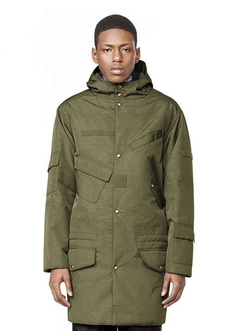 Outer Parka Army wang hooded parka jackets and outerwear official site
