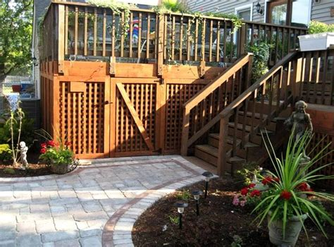 backyard lattice structures 9 best images about outdoor garbage can holders on