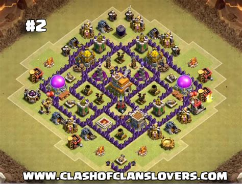 layout coc for war 30 undefeated th7 war farming trophy hybrid 2017