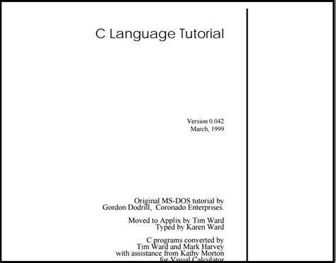 tutorial for c language 20 ways to learn c programming for free
